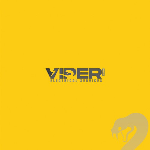 "Logo for modern Electrical company called ""VIPER"""