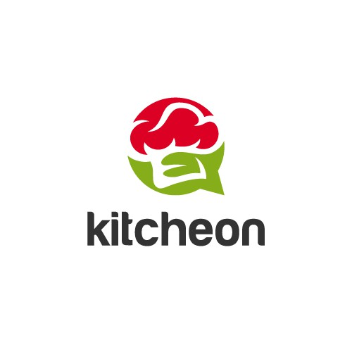 chef hat with chat logo design concept