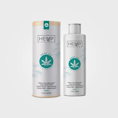 Hemp oil Packaging