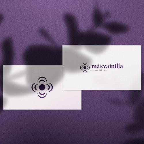 Más Vainilla Logo design