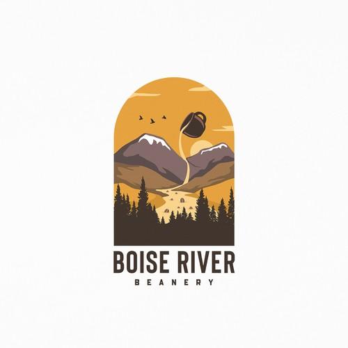 """Logo for new coffee roaster """"Boise River Beanery"""""""