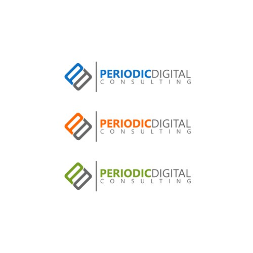 Create a thought provoking logo for Periodic Digital Consulting