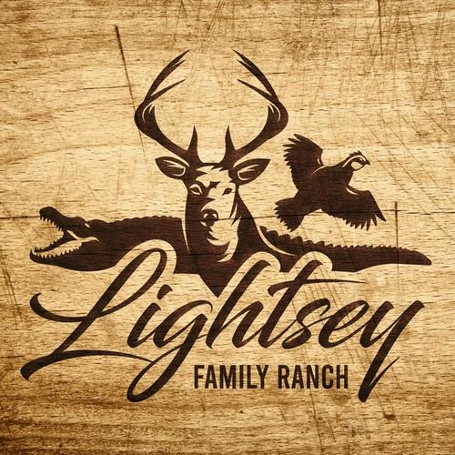 LIGHTSEY FAMILY RANCH Logo Design