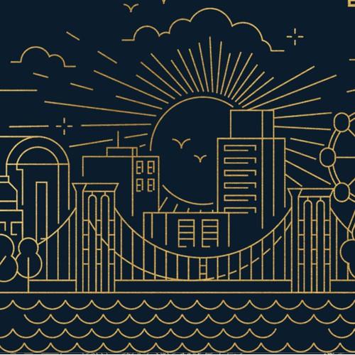 Cityscape Envelope Illustration