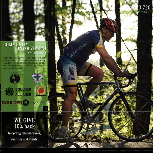 website design for Colorado Bike Lawyers, Ltd.