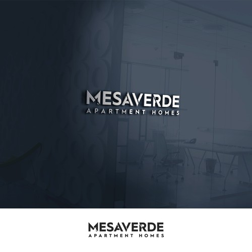 Bold modern logo for Mesa Verde