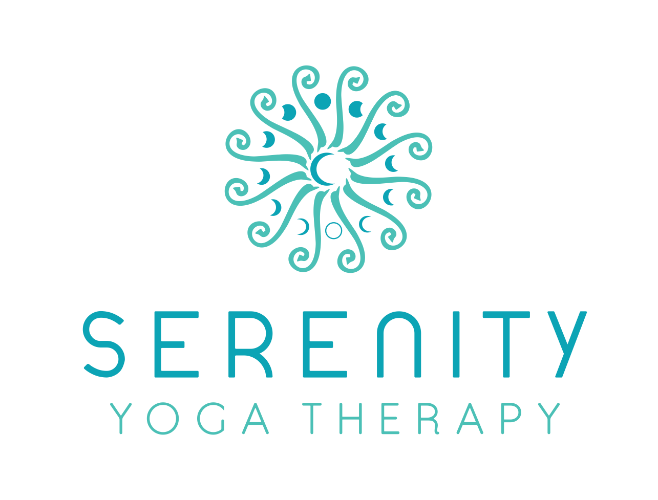 Degsing a peaceful logo for my Yoga Therapy practice.