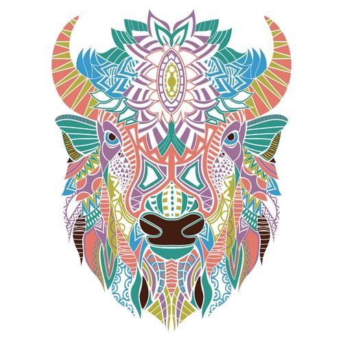 Buffalo ethnic Illustration