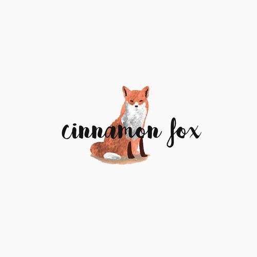 Fox Logo Concept for Cinnamon Fox