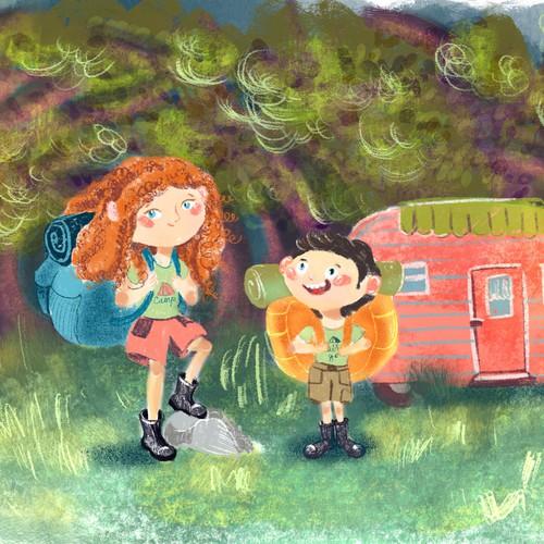 Visual development for children's book