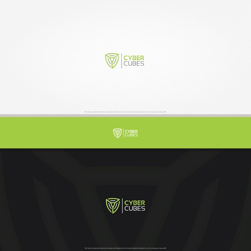 Modern shield shape logo for security company