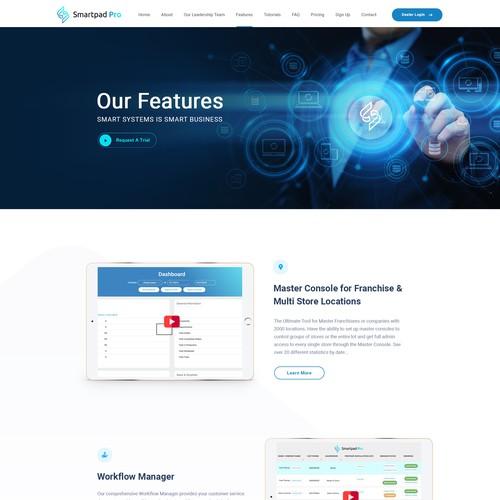 Technology website design