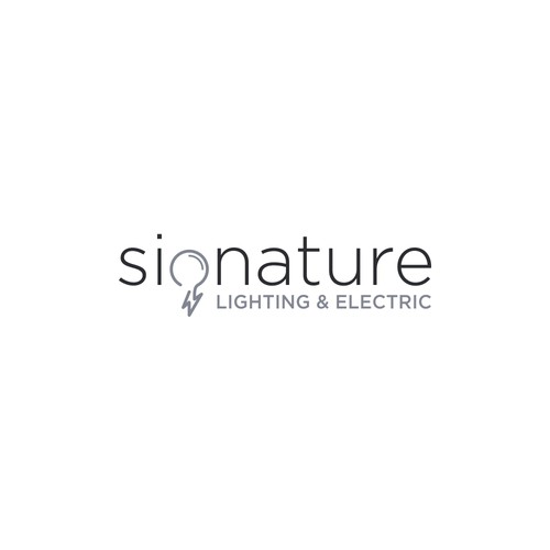 Logo for lighting company - Signature Lighting and electric