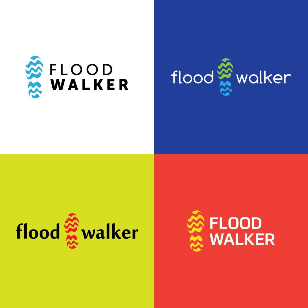 Design an awesome logo for ultra-lightweight flood gear, Flood Walker!
