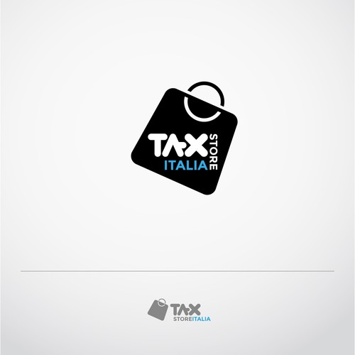 Logo design for The first italian tax store accounting