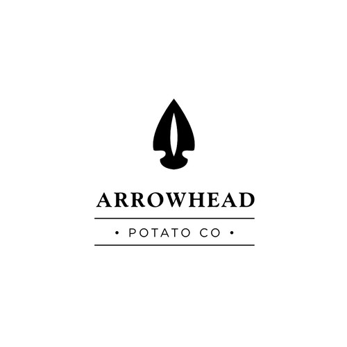 Potato company logo - arrow