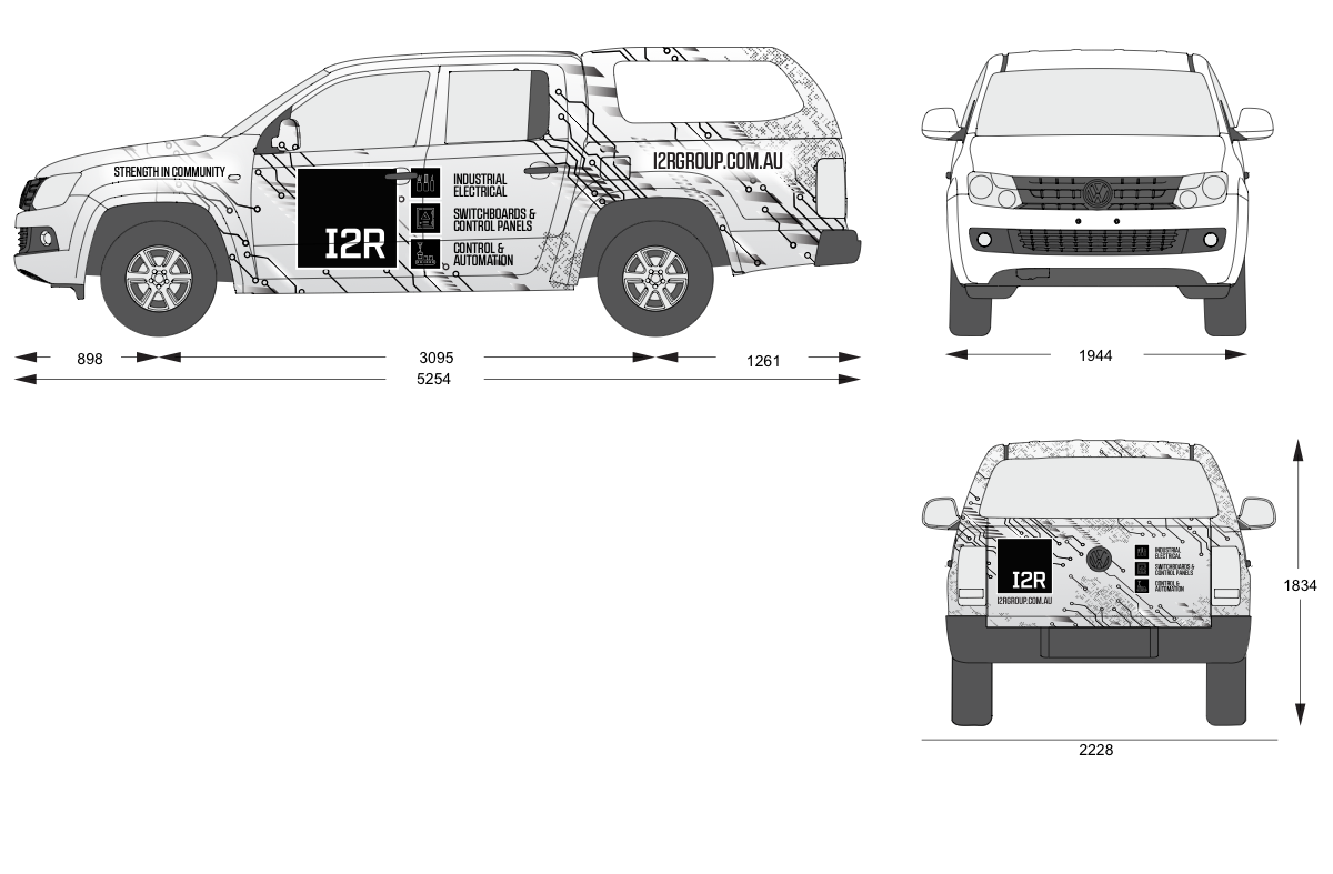 Additional vehicle wrap designs for trays and canopies