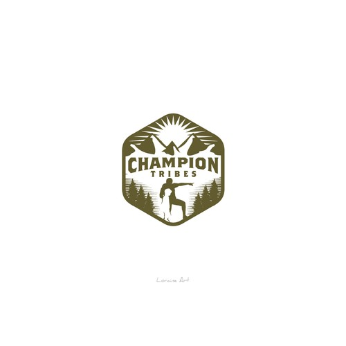 Bold design logo of Champion Tribe