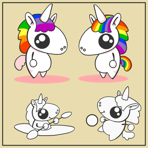 Cute Unicorn mascot