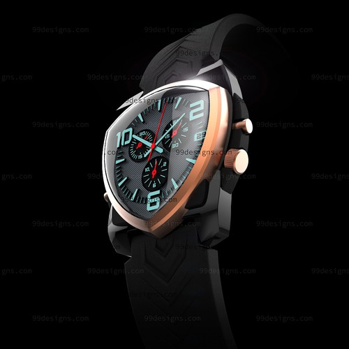 Original 3d watch design