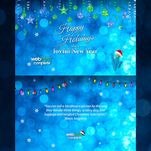 Christmas card for WebFEAT Complete team.