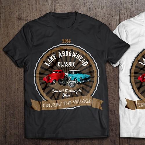 T-Shirt design for Lake Arrowhead Classic Car Show