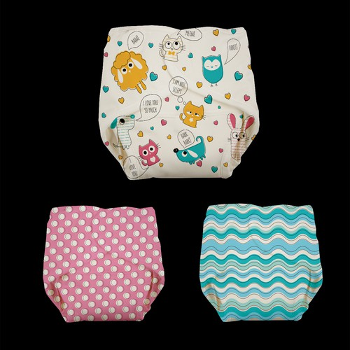 Fun and fresh prints for Modern Cloth Nappies: