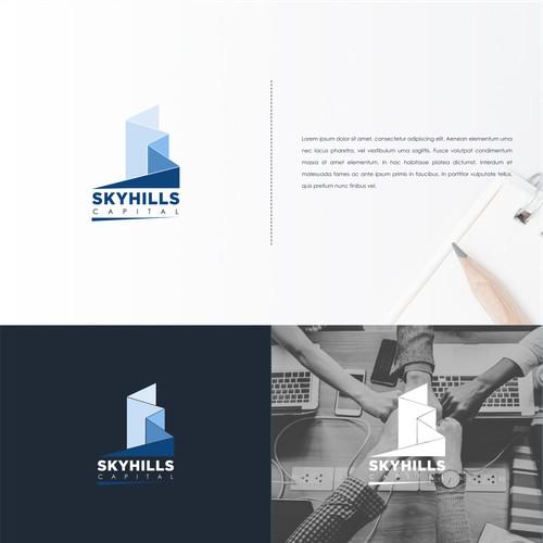 Logo concept for skyhills capital