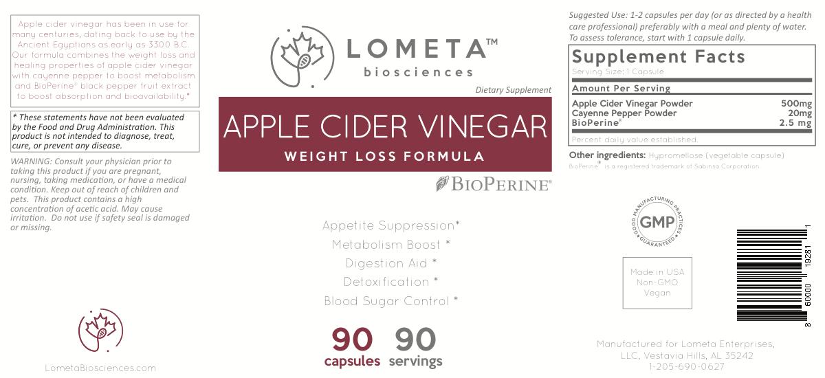 Label for Apple Cider Vinegar
