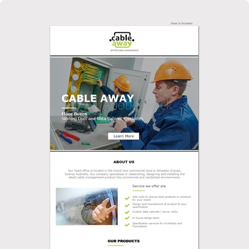 Cable Away Email template