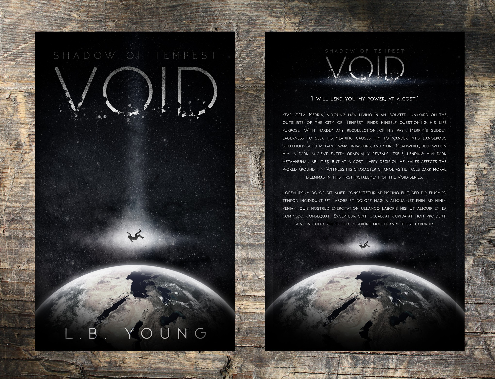 Create a cover that attracts a GOT/Walking Dead fan to a Science-Fiction Book