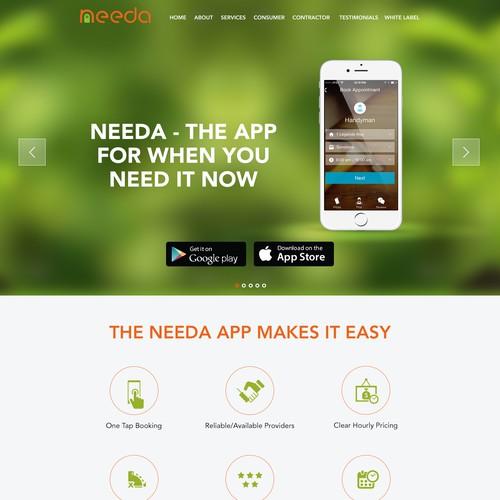 Needa App Website