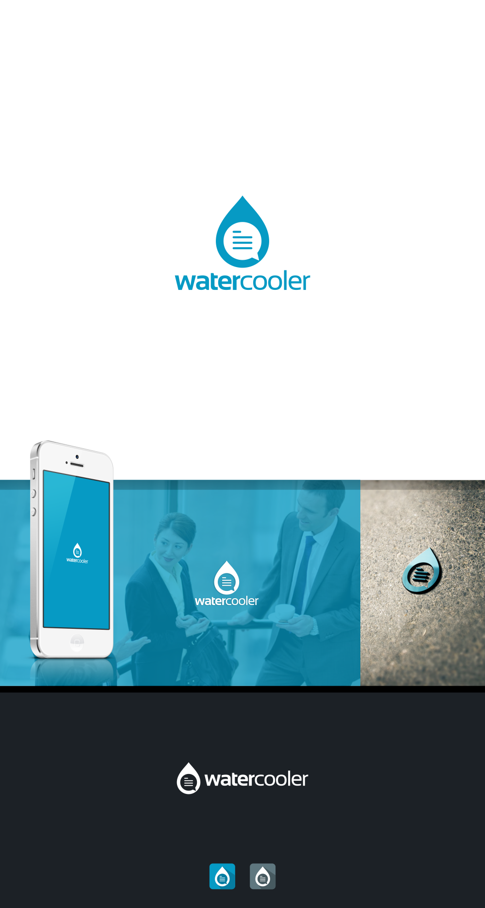 Watercooler App Logo and Icon