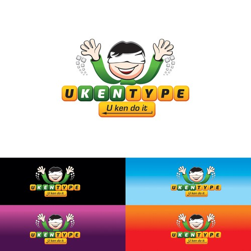 Design a logo and website to teach kids how to master typing