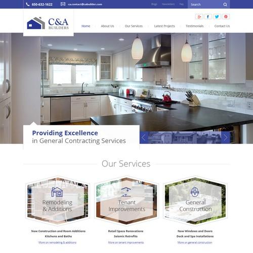 Webdesign for Residential Home Builder