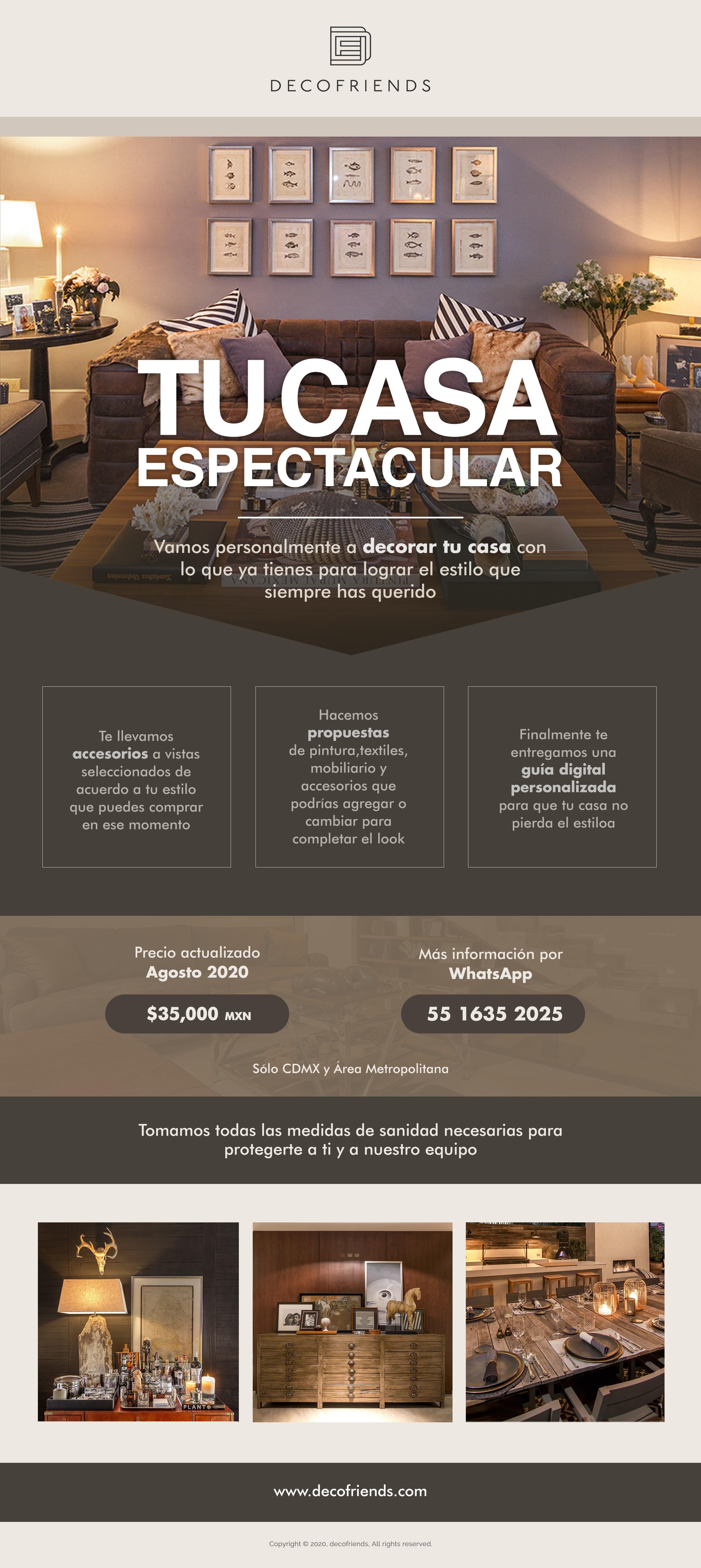 Digital flyer for styling and decoration services // Flyer digital para asesoría de decoración