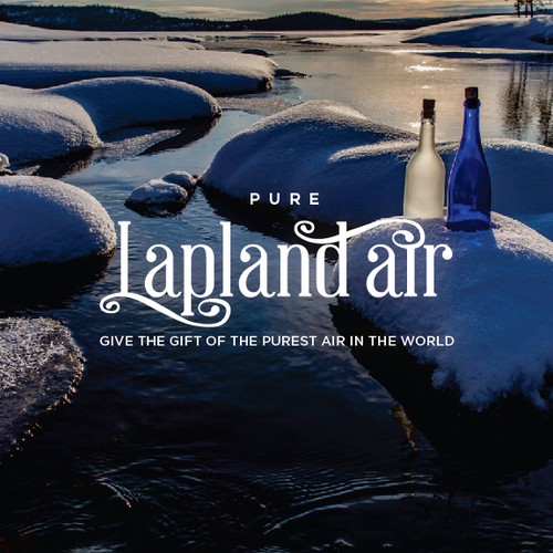 Logo for the pure air from Lapland, Finland.