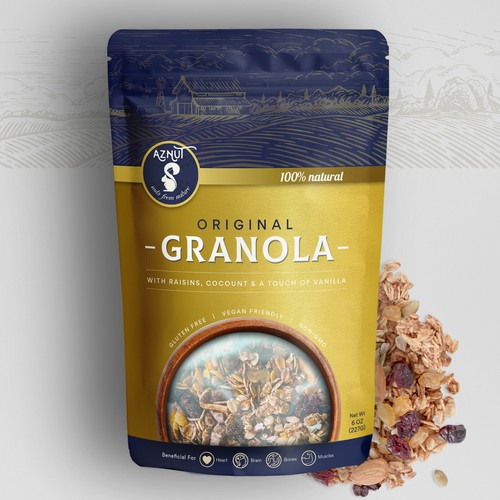 Granola Pouch Packaging Design