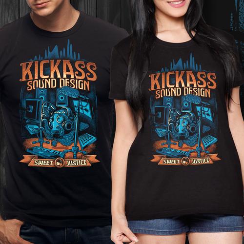 KICKASS vintage t-shirt design for sweet justice!