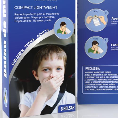 Sickness bag/vomit bag packaging