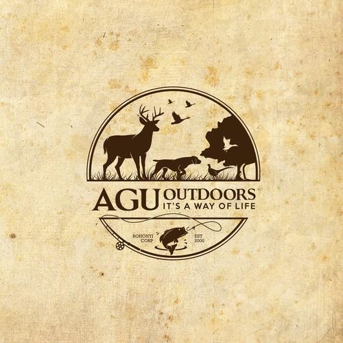 Bold logo design for AGU outdoors