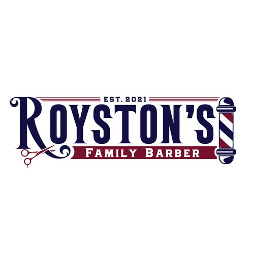 Classic logo with fun touch for a barbershop