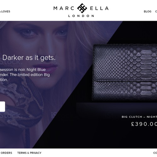 Marc Ella Website design