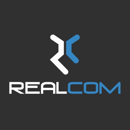 logo and business card pour REALCOM