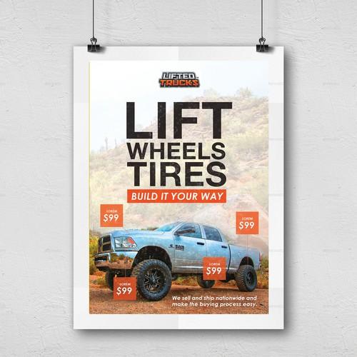 Lifted Trucks Sample Poster