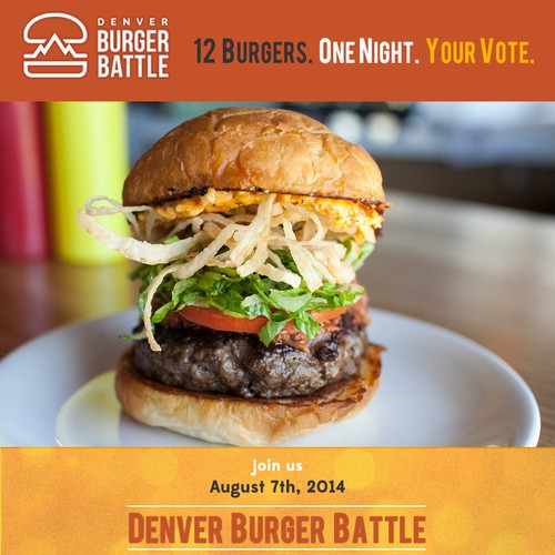 Create a flyer for a burger event