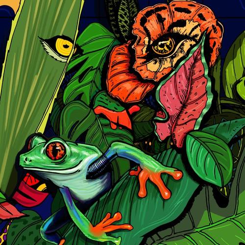 Nature-inspired illustration