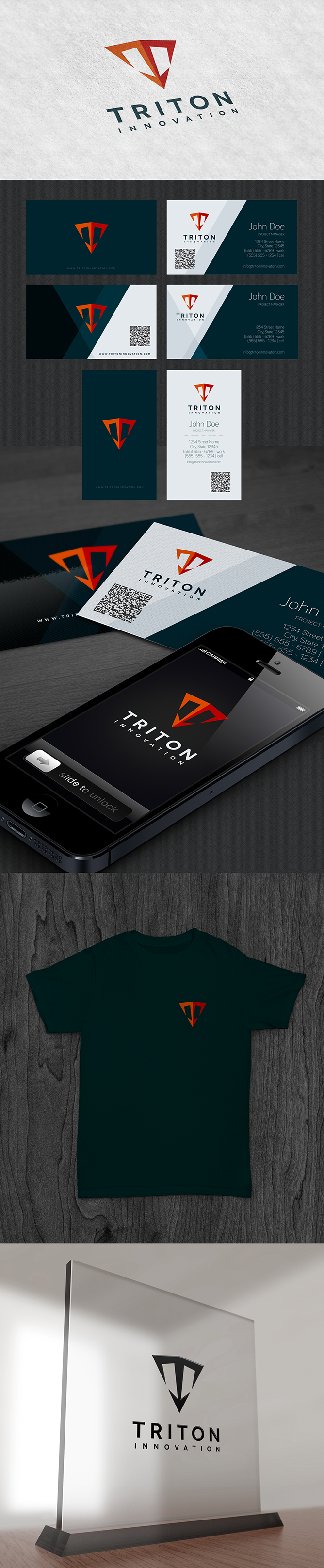 Help Triton Innovation Inc. design our first logo and business card!