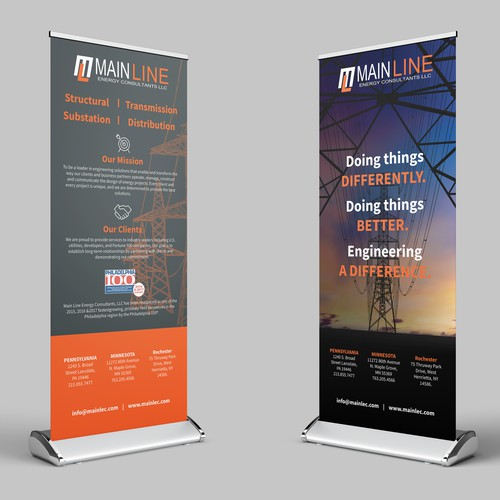 MainLine Retractable banners