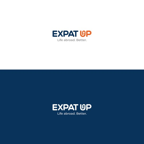 Expat Up logo design
